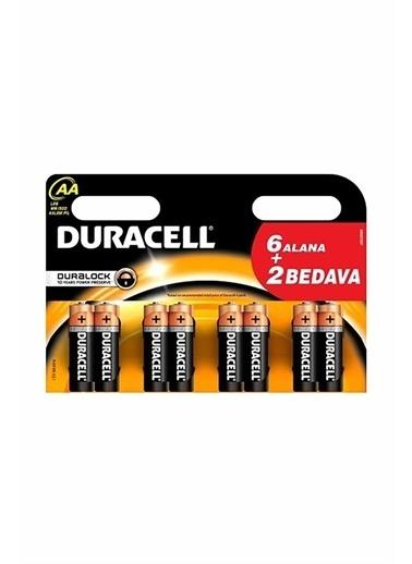 Duracell Duracell Dayanıklı Alkalin Aa Kalem Pil 6+2 Ekonomik Paket Pembe